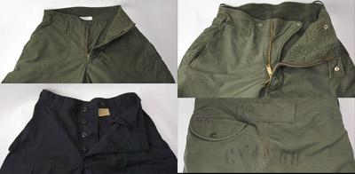 米軍デッキパンツ(中古〜デッドストック)、ブラックBDUパンツ