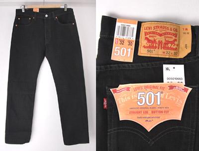 新品リーバイス501ブラック 501-0660