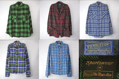 ウールシャツ、ネルシャツなど