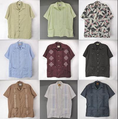 キューバシャツなど古着の半袖シャツ