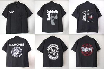 ロック系ブラックシャツ