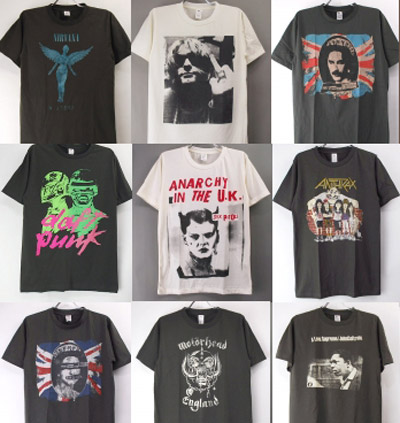 新品バンドTシャツ