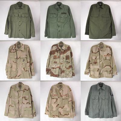 米軍ミリタリーシャツ(3C/6CカモBDU、USAFユーティリティ他)