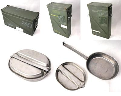 米軍アンモボックス、メスキットパン