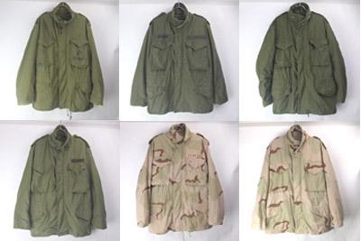M65ジャケット 3CカモSR/MS グリーン(SS/MR グレライ)