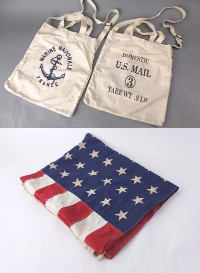 キャンバストートバッグショルダー付き。 1950's星条旗(48スター)