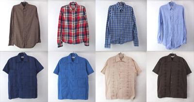 長袖シャツと新品キューバシャツ