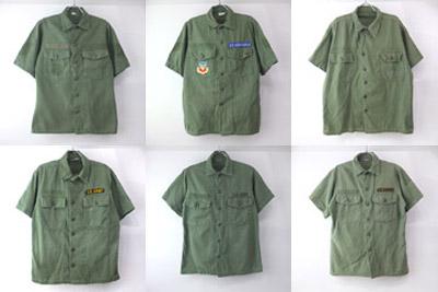 米軍ユーティリティシャツ半袖コットンサテン
