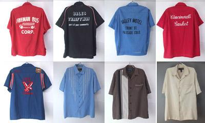 ボウリングシャツ、シルクシャツ