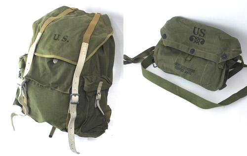 米軍 WW2 ヴィンテージリュック、ガスマスクバッグ