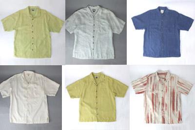 半袖シルクシャツ