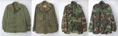 USN.N-4ジャケット、M-1943ジャケットなど