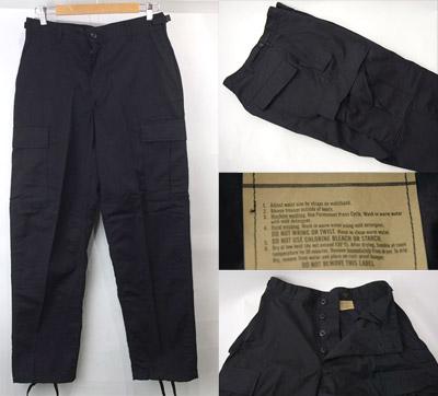 米軍実物ブラックBDUパンツ