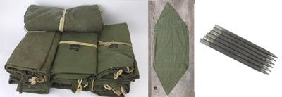 米軍パップテント シート1枚売り 60〜80年代