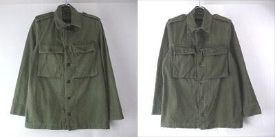 オランダ軍 ヘリンボーンツイル ユーティリティシャツジャケット
