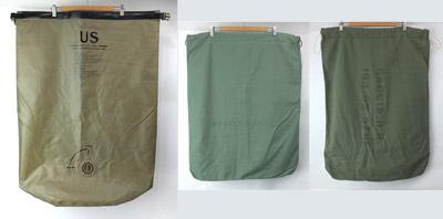 米軍ウォータプルーフバッグ、ランドリーバッグ