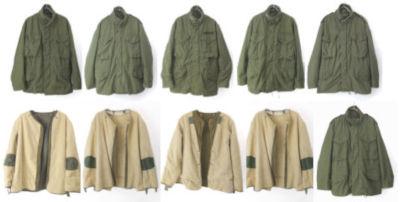 M-65フィールドジャケット、M1951ウールライナー