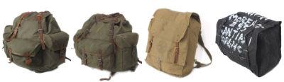 ミリタリーリュックサック、ボーイスカウトリュックサック、イタリア軍パラシュートバッグ