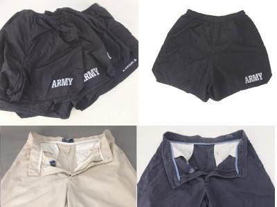U.S.ARMY トレーニングショートパンツ、ポロショートパンツ