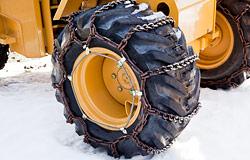 建設機械用タイヤチェーン