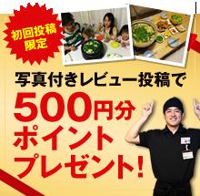 写真付きレビュー投稿で000円分ポイントプレゼント!