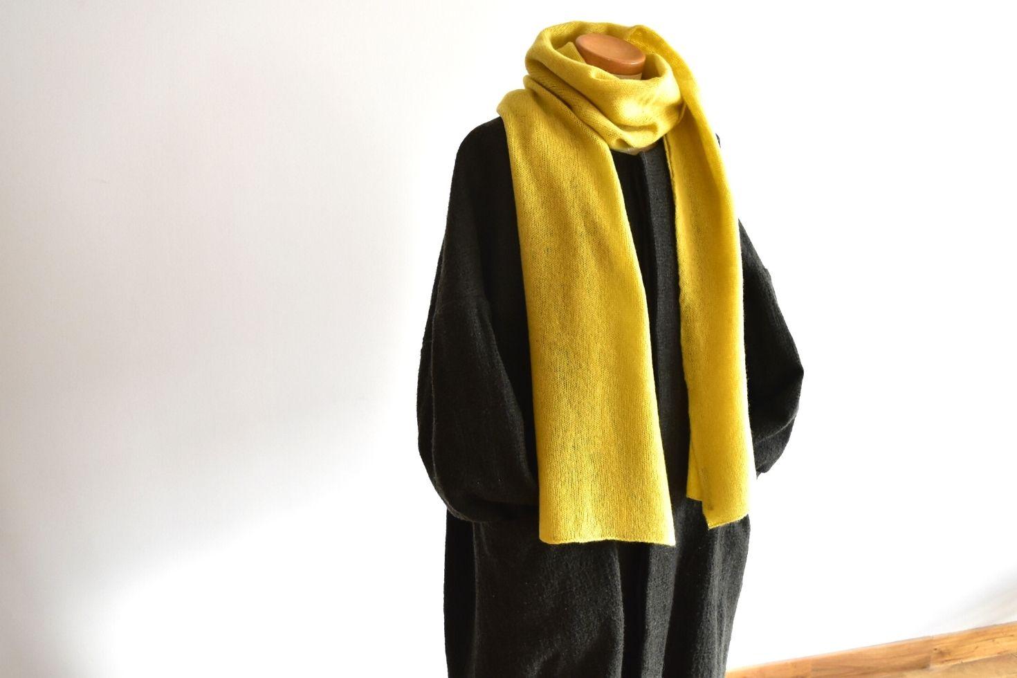 【AND WOOL】カシミヤ100%の細巾ストール(全8色)