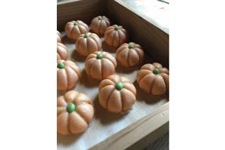 松風さんの和菓子教室「かぼちゃの薯蕷まんじゅう」