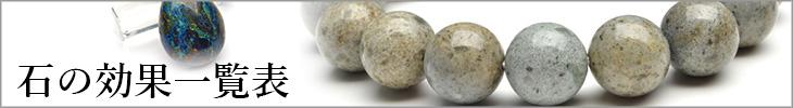 天然石・パワーストーンの効果一覧表
