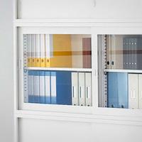 書庫のガラス戸