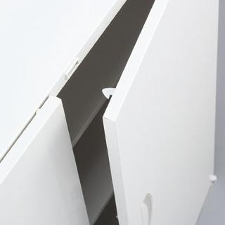 開き扉のラッチ機構