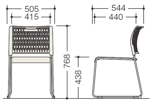 E415の各部寸法