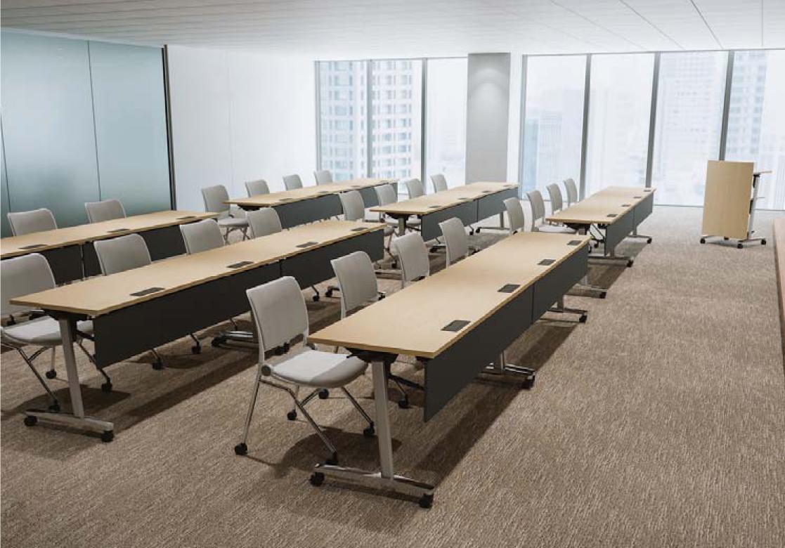 樹脂幕板付、天板ライトファインウッドタイプの使用例