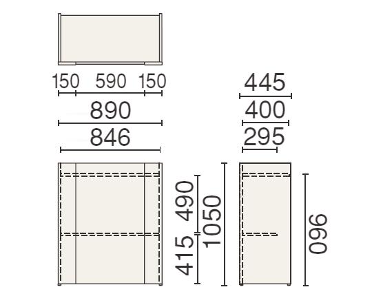 PLUS (プラス) 250シリーズ 講演台 MW-250の形状寸法