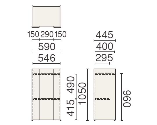 PLUS (プラス) 250シリーズ 司会者台 MW-252の形状寸法