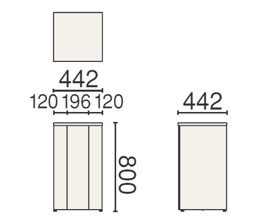 PLUS (プラス) 250シリーズ 花台 MW-255の形状寸法