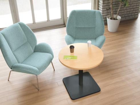 ローポジションの丸テーブル