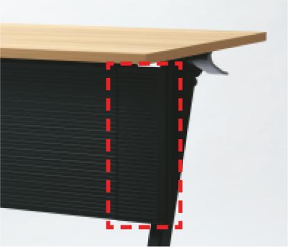 幕板の両端の軟質樹脂