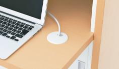 天板に便利な配線口を設置