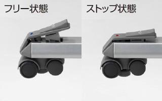 SEIKO FAMILY (セイコーファミリー) 「移動式インフォメーションカウンター MCT」のプッシュリターン式ストッパー付キャスター