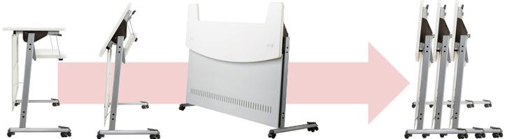 SEIKO FAMILY (セイコーファミリー) 「移動式インフォメーションカウンター MCT」の折りたたみ機構