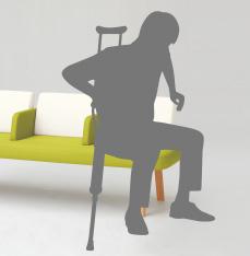 側面からも座れる中肘付