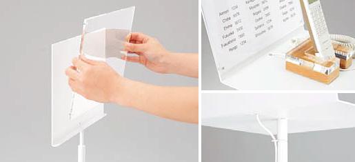 マグネット取付式のアクリル板
