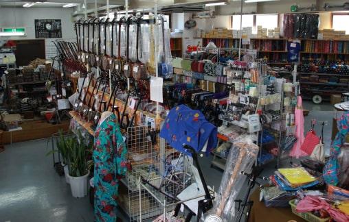 津波三味線店店内の写真