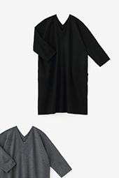 抜衿長方形衣 長袖