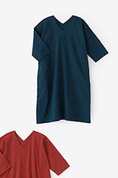 高島縮 空羽 抜衿長方形衣 七分袖