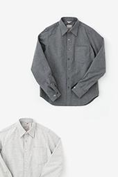 コットンフランネルシャツ