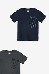 高島縮 半袖/長袖 ポケットTシャツ