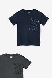 高島縮 半袖ポケットTシャツ