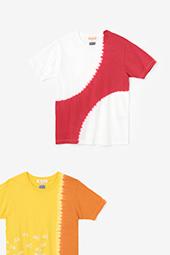 近清絞り 染め分け半袖Tシャツ