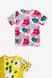高島縮40/40 半袖Tシャツ